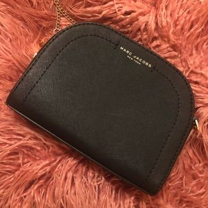 NEW Marc Jacobs Black Leather Chain Crossbody